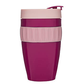 Kubek plastikowy SAGAFORM CAFE PINK 400 ml