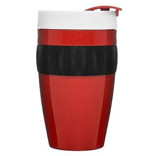 Kubek plastikowy SAGAFORM CAFE RED 400 ml
