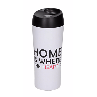 Kubek termiczny stalowy AMBITION HAPPY HOME 400 ml