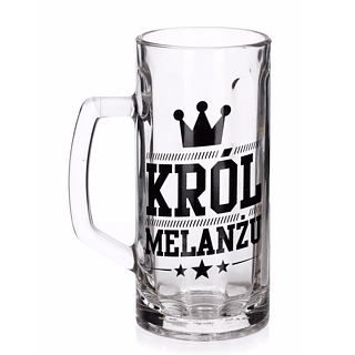 Kufel do piwa szklany FUN KRÓL MELANŻU 600 ml