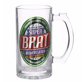 Kufel do piwa szklany PAN DRAGON SUPER BRAT 0,5 l
