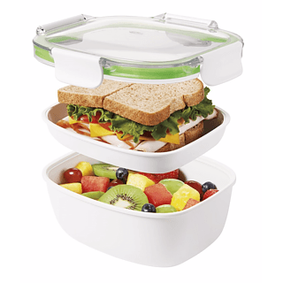 Lunch box dwupoziomowy plastikowy OXO GOOD GRIPS ON THE GO SANDWICH (3 el.)