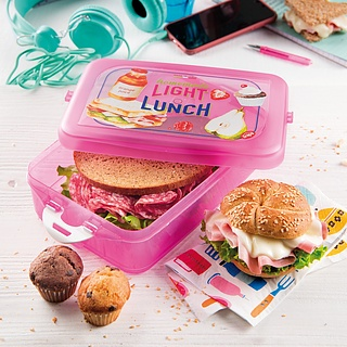 Lunch box plastikowy SNIPS ENERGY RÓŻOWY 1,3 l