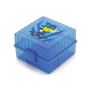 Lunch box plastikowy ZAK SMILEY KID NIEBIESKI