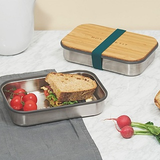 Lunch box stalowy BLACK BLUM SANDWICH BOX NIEBIESKI 0,9 l