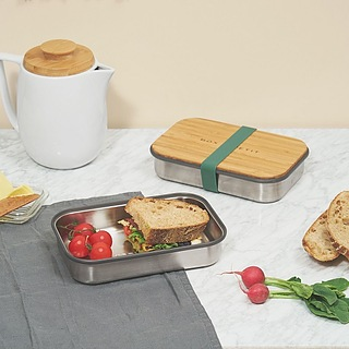 Lunch box stalowy BLACK BLUM SANDWICH BOX ZIELONY 0,9 l