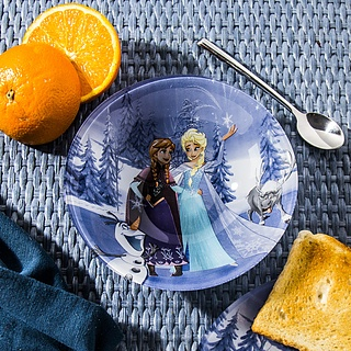 Miska / Salaterka szklana DISNEY FROZEN WINTER MAGIC NIEBIESKA 0,4 l