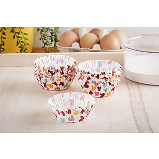 Papilotki / Foremki do muffinek papierowe PATISSE COLORFUL HEARTS 200 szt.