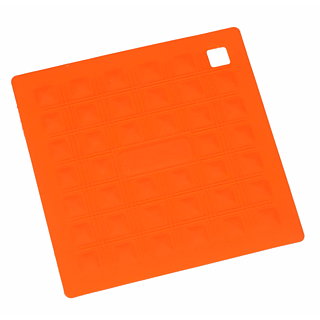 Podkładka pod garnek silikonowa SILIKOMART SQUARE SMALL ORANGE 17,5 x 17,5 cm