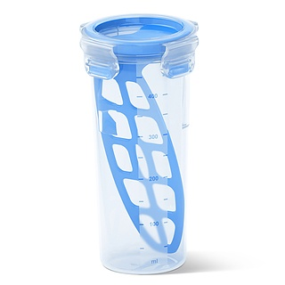 Shaker do sosów i dressingów plastikowy EMSA CLIP CLOSE 0,5 l