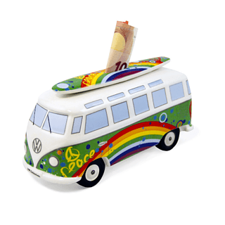 Skarbonka porcelanowa VOLKSWAGEN COLLECTION BY BRISA BUS PEACE WIELOKOLOROWA