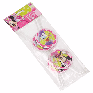 Słomki do napojów plastikowe DISNEY MINNIE MOUSE BOW-TIQUE 6 szt.
