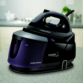 Żelazko z generatorem pary plastikowe MORPHY RICHARDS POWER STEAM ELITE CZARNA 2400 W