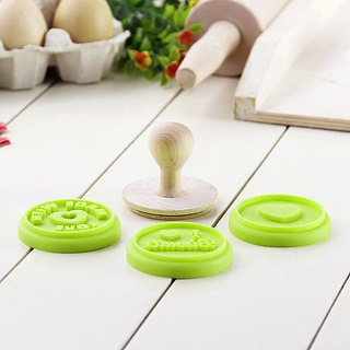 Stempel do ciastek z 3 nakładkami COOKIE STAMPS GREEN