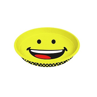 Taca metalowa ZAK DESIGNS SMILEY HAPPY 33 cm