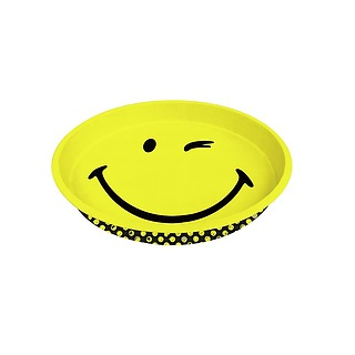 Taca metalowa ZAK DESIGNS SMILEY WINK 33 cm