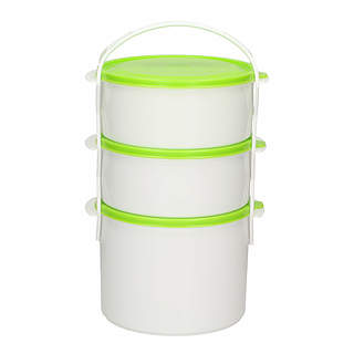 Trojak / Lunch box trzykomorowy DINNER MIX 3,7 l