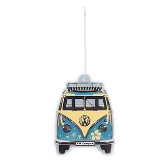 Zapach do samochodu tekturowy VOLKSWAGEN COLLECTION BY BRISA BUS FLOVER PINACOLADA TURKUSOWY