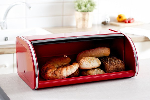 Chlebak metalowy BRABANTIA ROLL TOP BREAD PASSION RED