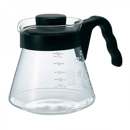 Dzbanek do herbaty i kawy szklany HARIO COFFEE SERVER BLACK 0,7 l