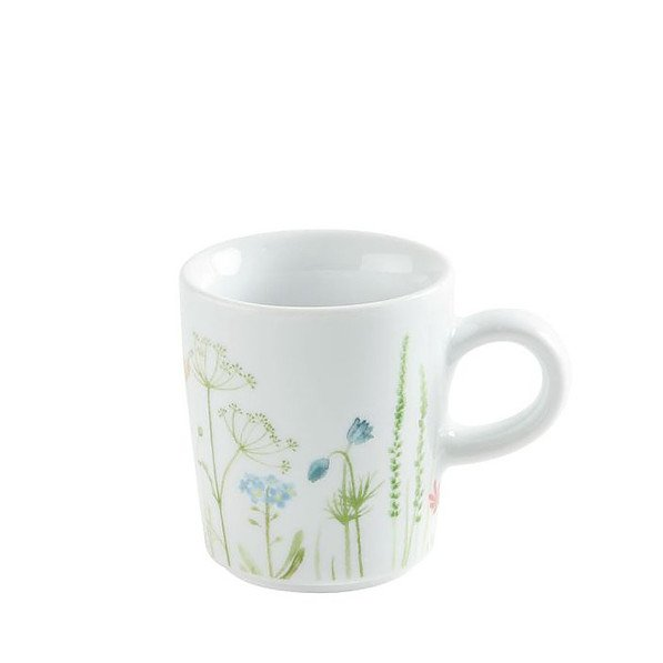 Filiżanka do espresso porcelanowa KAHLA WILDBLUME GREEN BIAŁA 90 ml