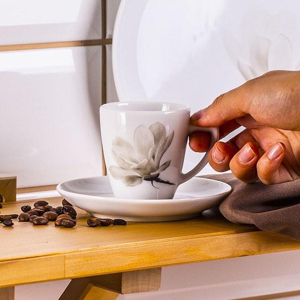 Чашка с блюдцем 100мл (Любяна LUBIANA / Магнолия)