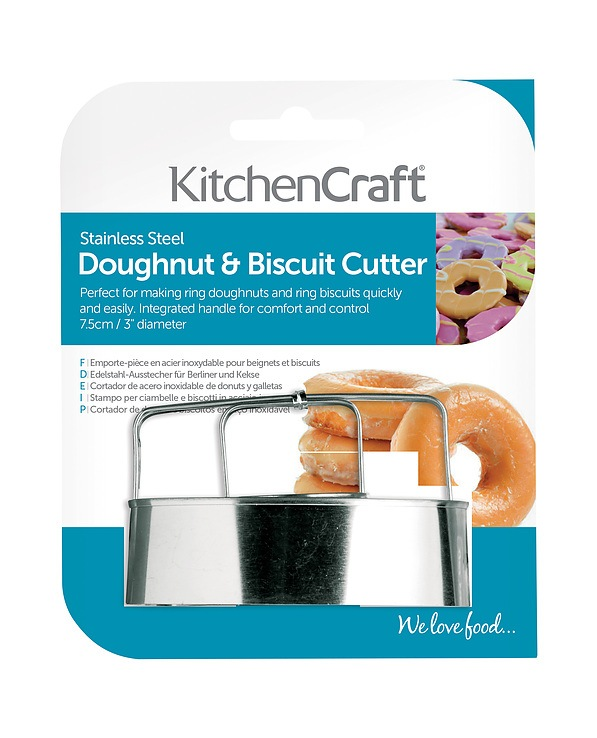 Foremka / Wykrawacz do ciastek metalowy KITCHEN CRAFT DONUT 8 cm