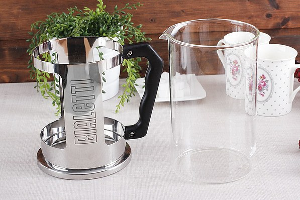 French press / Zaparzacz do kawy tłokowy szklany BIALETTI FRENCH PRESS 1,5 l
