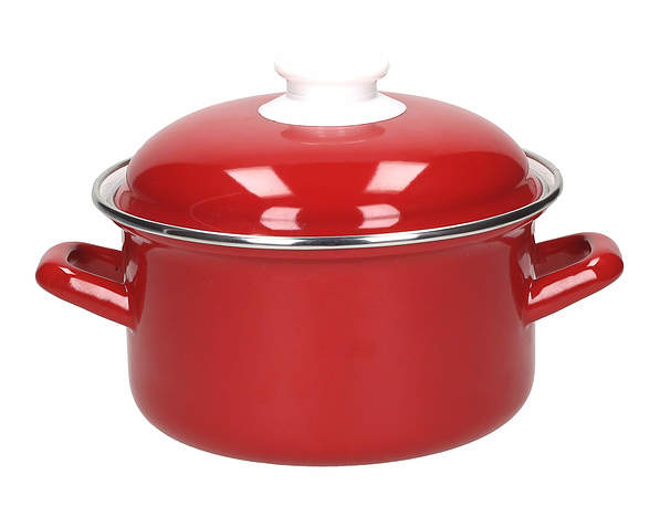 Garnek emaliowany COOK AND STORE RED 2 l