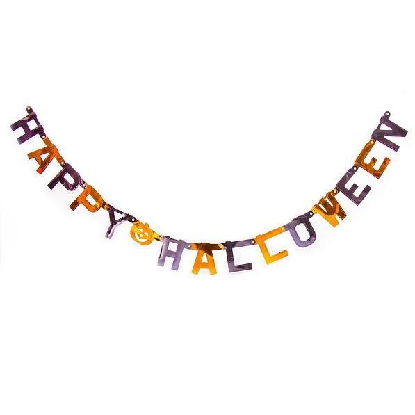 Girlanda / Napis halloweenowy papierowy HAPPY HALLOWEEN
