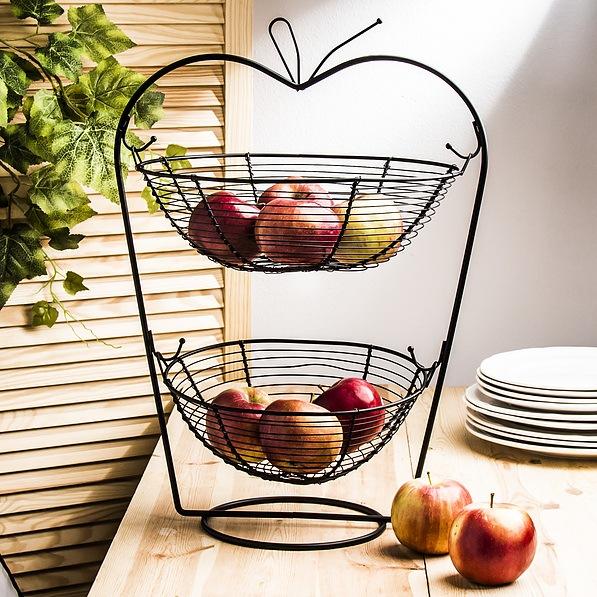 Dosige Obstschale Metall Skandinavische Deko Korb Obst Aufbewahrung f/ür mehr Vitamine in Ihrem Alltag dekorativer Obstkorb Vintage Schwarz