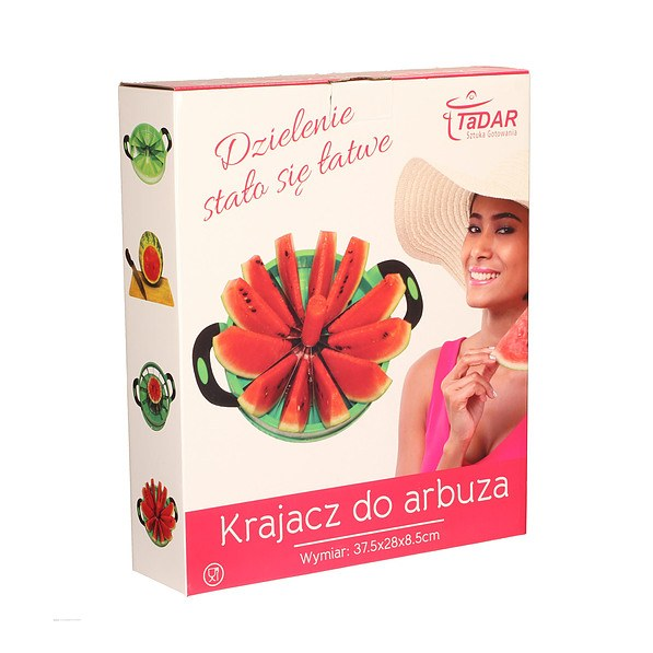 Krajacz do arbuza plastikowy WATERMELON ZIELONY