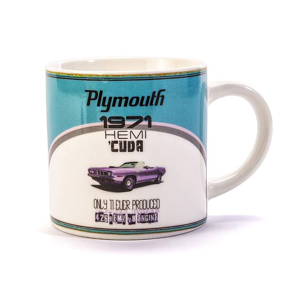 Kubek ceramiczny boss DUO RETRO CAR PLYMOUTH BAŁY 400 ml