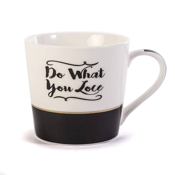 Kubek ceramiczny FLORINA DO WHAT YOU LOVE BIAŁY 330 ml