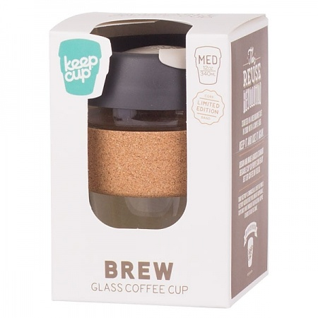 Kubek do kawy szklany z pokrywką KEEPCUP BREW CORK PRESS 227 ml