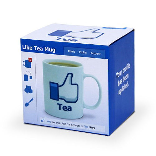 Kubek porcelanowy boss z napisem SPINNING HAT FACEBOOK TEA 300 ml