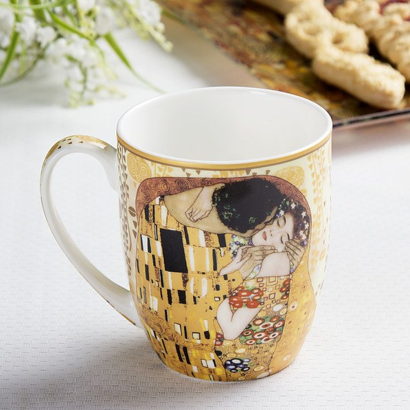 Kubek porcelanowy CARMANI KLIMT THE KISS 400 ml