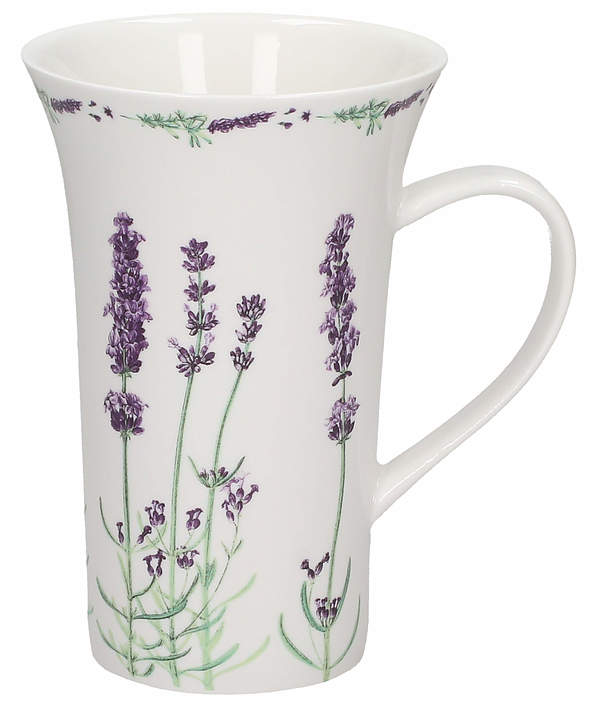 Kubek porcelanowy DUO LAVENDER 500 ml