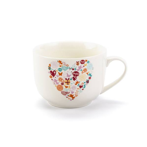 Kubek porcelanowy DUO ROMANTIC HEART 640 ml