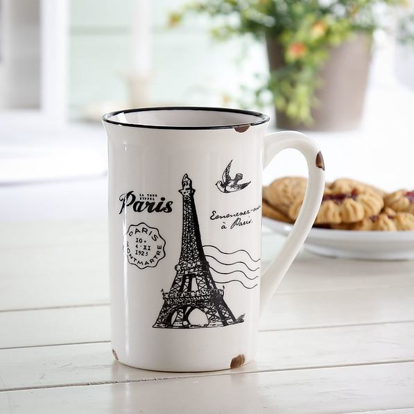 Kubek porcelanowy RETRO PARIS 400 ml