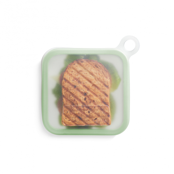 LEKUE Reusable Sandwich Case zielony - lunch box plastikowy