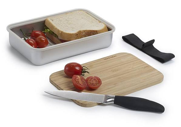 Lunch box aluminiowy BLACK BLUM SANDWICH ON BOARD ZIELONY