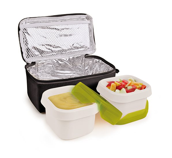 Lunch box IRIS NANO DUPLO CZARNY