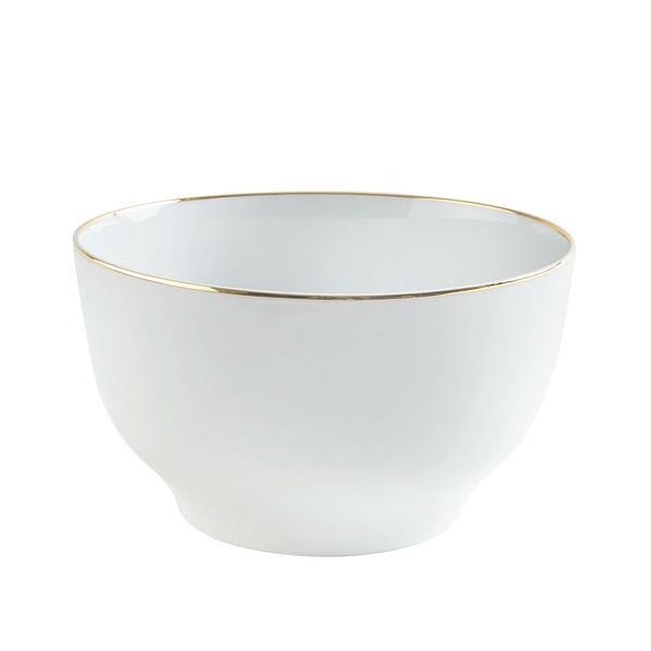 Miska / Salaterka porcelanowa KAHLA MAGIC GRIP DINER LINE OF GOLD BIAŁA 3,8 l