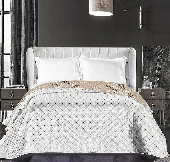 TAGESDECKE 220x240 cm Bettüberwurf Decke Bett Überwurf Zweiseitig