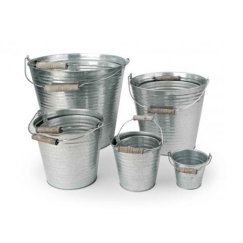 Osłonki Na Doniczki Metalowe Bucked Metaliczne 9 Szt