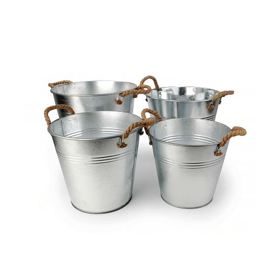 Osłonki Na Doniczki Metalowe Tinware Metaliczne 4 Szt