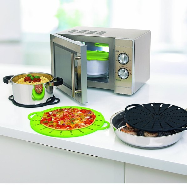 Pokrywka silikonowa EMSA SMART KITCHEN GREEN 31 cm