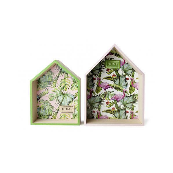 Półki Na ścianę Wiszące Bambusowe Domek Gaia 2 Szt