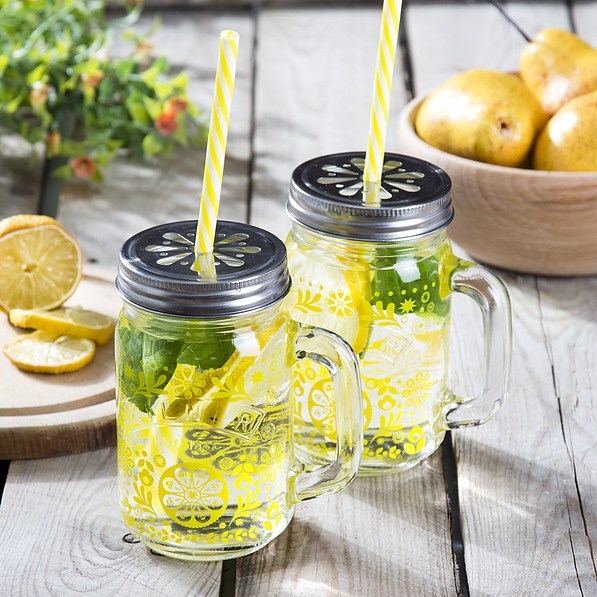 Słoiki do koktajli i smoothie szklane KILNER LEMONADE 2 szt.